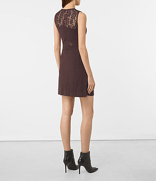 Womens Ula Dress (BURGUNDY RED) - product_image_alt_text_5