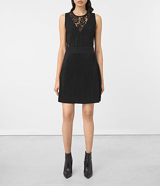 Mujer Ula Dress (Black) - product_image_alt_text_1