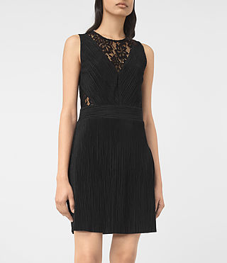 Mujer Ula Dress (Black) - product_image_alt_text_2