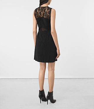 Mujer Ula Dress (Black) - product_image_alt_text_6