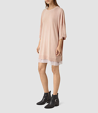 Womens Relm Knit Dress (Quartz Pink) - product_image_alt_text_3