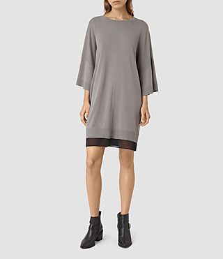 Damen Relm Knit Dress (gunmetal green)