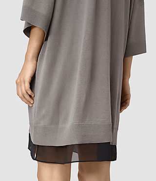 Mujer Relm Knit Dress (gunmetal green) - product_image_alt_text_2