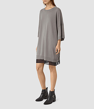 Mujer Relm Knit Dress (gunmetal green) - product_image_alt_text_3