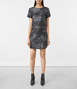 Mujer Jiro Jacquard Dress (Black) - product_image_alt_text_1