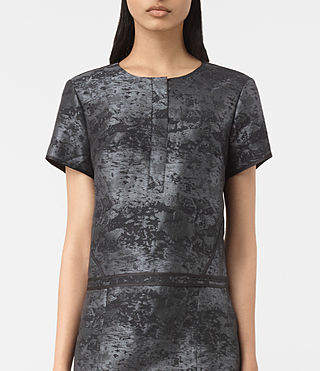 Mujer Jiro Jacquard Dress (Black) - product_image_alt_text_3