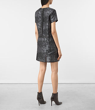Mujer Jiro Jacquard Dress (Black) - product_image_alt_text_5