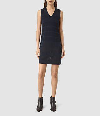 Women's Fix Mesh Dress (NAVY BLUE)