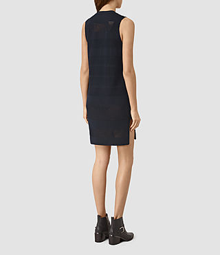 Femmes Fix Mesh Dress (NAVY BLUE) - product_image_alt_text_4