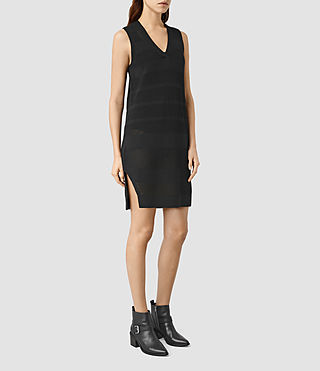 Mujer Fix Mesh Dress (Black)