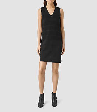 Mujer Vestido Fix Mesh (Black) - product_image_alt_text_2