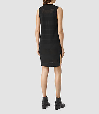Mujer Vestido Fix Mesh (Black) - product_image_alt_text_3