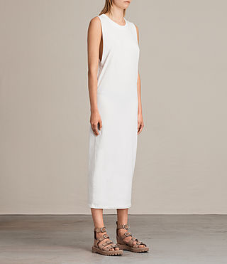 Womens Isla Dress (Vintage White) - product_image_alt_text_4