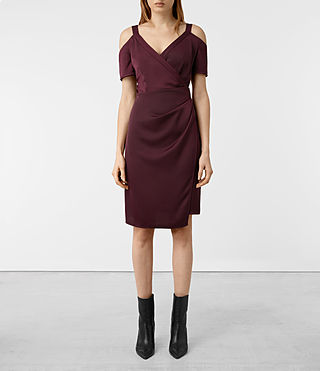 Damen Cadia Dress (Maroon)