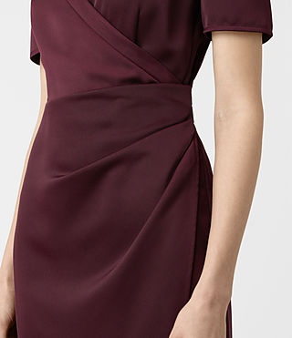 Womens Cadia Dress (Maroon) - product_image_alt_text_2