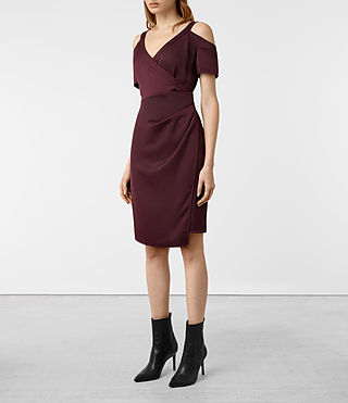Womens Cadia Dress (Maroon) - product_image_alt_text_3