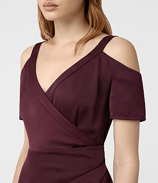 Womens Cadia Dress (Maroon) - product_image_alt_text_4