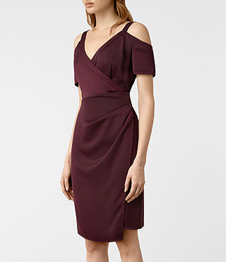 Womens Cadia Dress (Maroon) - product_image_alt_text_5
