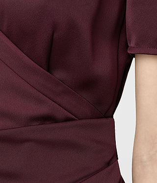 Womens Cadia Dress (Maroon) - product_image_alt_text_6