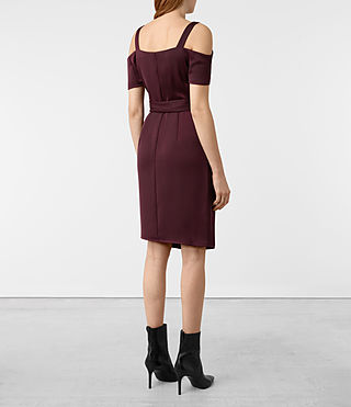 Womens Cadia Dress (Maroon) - product_image_alt_text_7