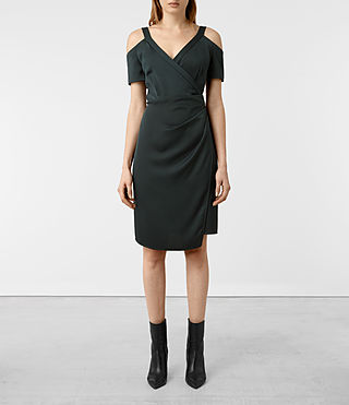 Womens Cadia Dress (OIL BLACK)