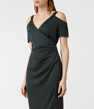 Damen Cadia Dress (OIL BLACK) - product_image_alt_text_2
