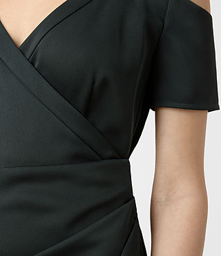 Damen Cadia Dress (OIL BLACK) - product_image_alt_text_3