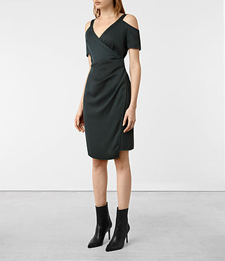 Damen Cadia Dress (OIL BLACK) - product_image_alt_text_4