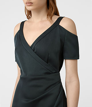 Damen Cadia Dress (OIL BLACK) - product_image_alt_text_5