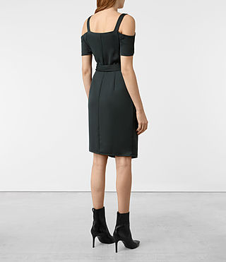 Damen Cadia Dress (OIL BLACK) - product_image_alt_text_6