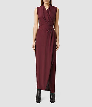 Women's Lani Dress (Rust Red)