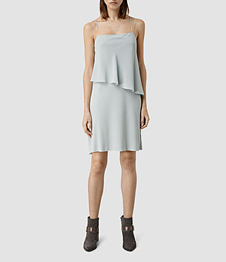 Women's Mira Silk Dress (MIRAGE GREY)