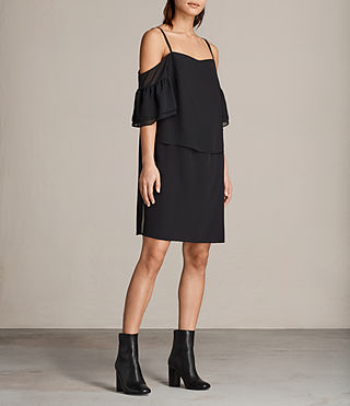 Womens Siva Dress (Black) - Image 3