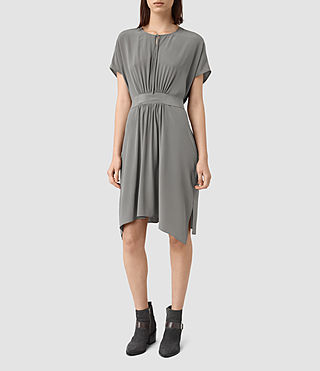 Womens Nevis Silk Dress (Slate Grey)