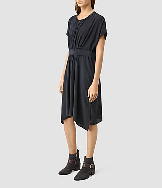 Women's Nevis Silk Dress (Ink Blue)