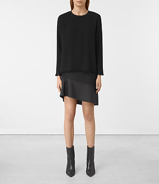 Mujer Shea Sleeve Dress (Black)