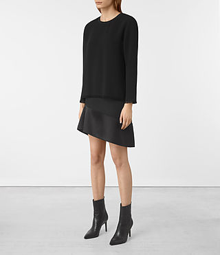 Damen Shea Sleeve Dress (Black) - product_image_alt_text_3
