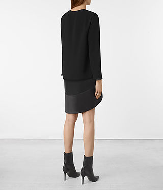 Femmes Robe Shea Sleeve (Black) - product_image_alt_text_5