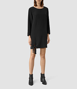Womens Neely Silk Dress (Black)
