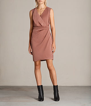 Women's Anika Dress (ASH ROSE PINK) -