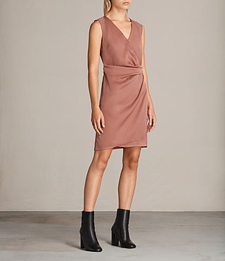 Women's Anika Dress (ASH ROSE PINK) - product_image_alt_text_3