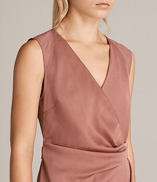 Women's Anika Dress (ASH ROSE PINK) - product_image_alt_text_4