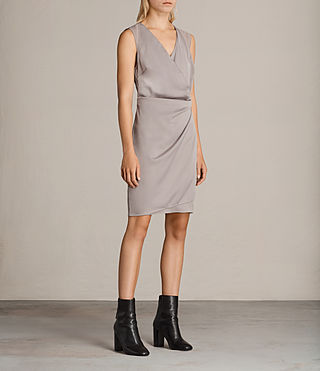 Womens Anika Dress (Silver Grey) - product_image_alt_text_3