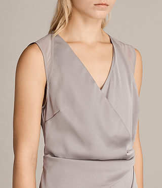 Womens Anika Dress (Silver Grey) - product_image_alt_text_4