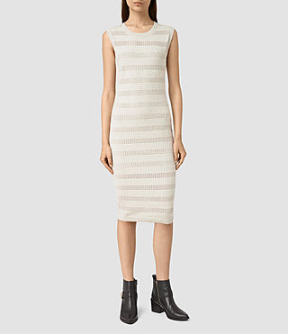 Womens Casto Knitted Dress (Grey Melange)