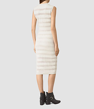 Women's Casto Dress (Grey Melange) - product_image_alt_text_4