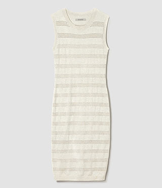Women's Casto Dress (Grey Melange) - product_image_alt_text_5