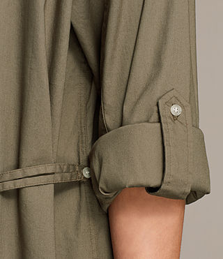Womens Lamont Shirt Dress (Khaki Green) - product_image_alt_text_2