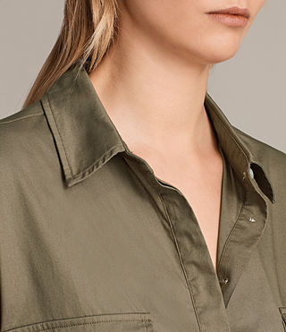 Womens Lamont Shirt Dress (Khaki Green) - product_image_alt_text_4