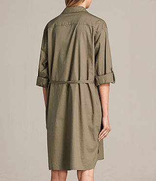 Womens Lamont Shirt Dress (Khaki Green) - product_image_alt_text_6